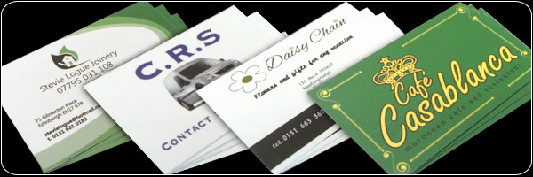Business cards, Leaflets, flyers and all types of printing done at Sign-Sation Edinburgh